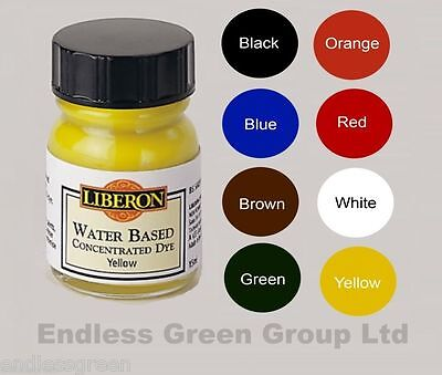 Liberon Concentrated Water Based Wood Dye 15ml Bottle Make Wood Stain Toy Safe ()