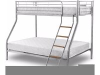 Brand New *** Trio Sleeper Metal Bunk Bed Good Deal with Mattress Free Delivery