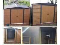 Garden shed storage hut with wooden reinforced floor 3m x2.40m height2.10m