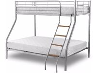 - CLEARANCE STOCK- Brand New Bunk Bed...Top Single Bottom Double Bunk Bed Call Now