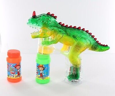 Dinosaur Bubble Gun Blower Blaster Shooter Music Sound Flashing Led Lights