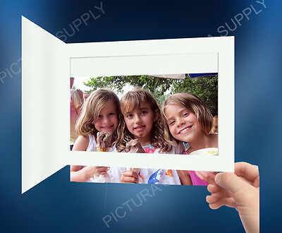 6x4 Basic White Cardboard Photo Folders - Pack of -