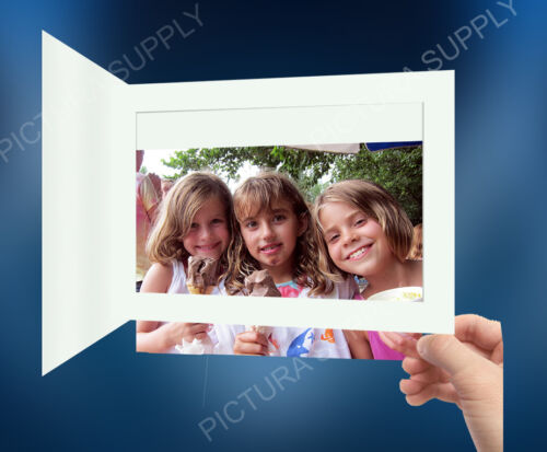 6x4 Basic White Cardboard Photo Event Folders - Pack of 25
