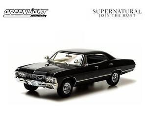 Supernatural 1967 Chevy Impala Sports Sedan 1:43 Diecast Car Sam Dean Castiel