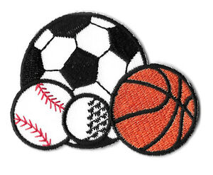 Sports-Ball-Coach-PE-Gym-Embroidered-Iron-On-Patch-Soccer-Baseball
