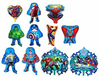MYLAR BALLOON SUPERHERO BATMAN SUPERMAN SPIDERMAN HULK IRONMAN CAPTAIN - Superman Balloon