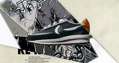 Sacai x Nike LDV Waffle Daybreak Mens Sneakers Running Shoes Trainers (Black)