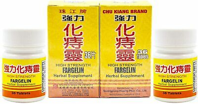 【Pack of 2】High Strength Fargelin - Herbal Supplement 72 Tablets 强力化痔灵72片