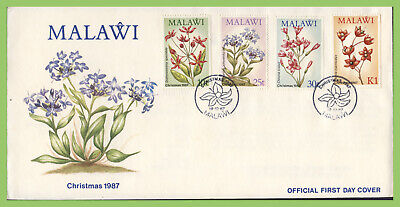 Malawi 1987 Christmas, Flowers set on First Day Cover