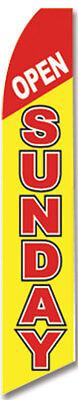 Open Sunday Flutter Swooper Advertising Sign 2.5 Wide Banner Flag Only