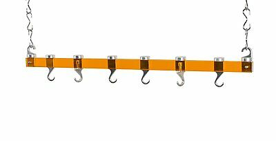 Concept Housewares 36-Inch Ceiling Pot Rack, Rack Orange - Item -