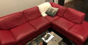 Natuzzi Red Leather Couch South Melbourne Port Phillip Preview