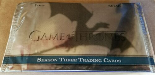 Game of Thrones season 3 trading card factory sealed  box lot 100 packs Retail