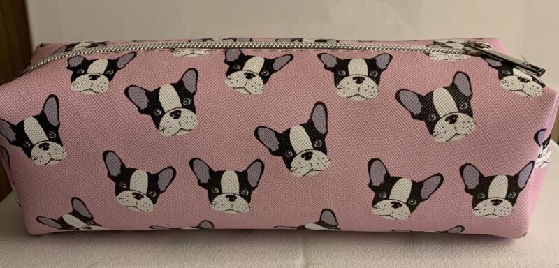 French Bulldog Pink Makeup Bag
