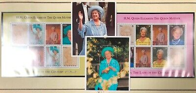 Turks & Caicos & Uganda QE II 95th Birthday Issue 1995 MNH