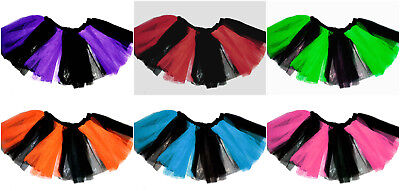 Plus Adult Size 2 Layer Tutu Rave Skirt Tone Uv Hen Emo Neon Halloween Christmas - Adult Christmas Tutu