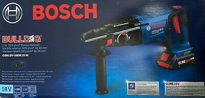 Bosch Gbh18v-26dk15 18v Ec Brushless Sds-plus Bulldog 1 In. Rotary Hammer Kit Wi