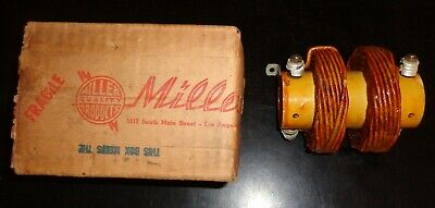 Vintage New In Box 1950s J.w. Miller D-7829 Dual Line Filter Choke 135uh 20a