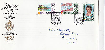 Jersey 1969 First Definitive Issue Set of 3 Covers FDC VGC