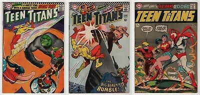 Teen Titans 6 9 21 lot of 3 nice 6.0 FN 1966-69 Beast Boy Doom Patrol Neal Adams - Teen Boys 69