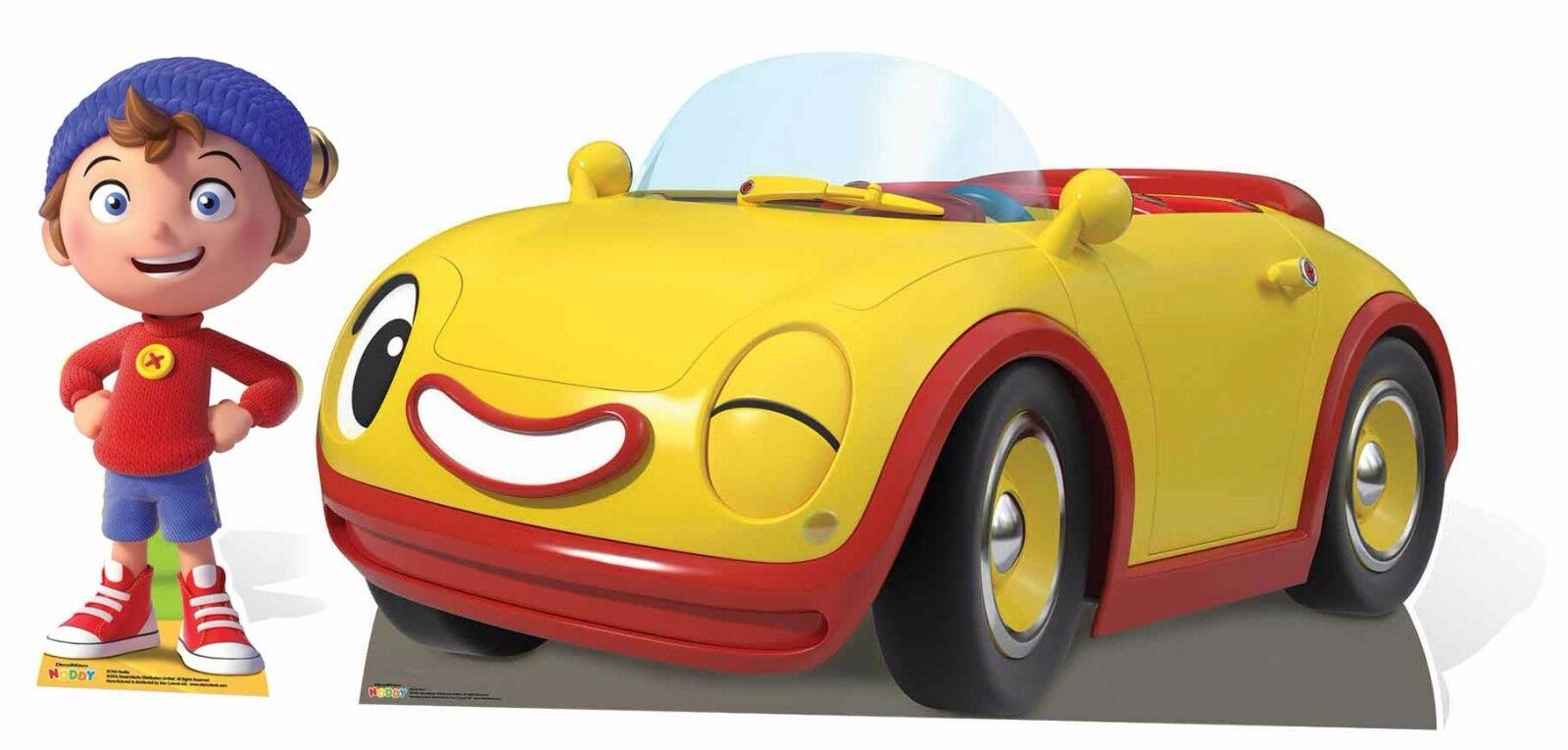 Noddy e Revs In Toyland Detective Sagoma Di Cartone Pacco Doppio per bambini