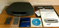 Bose Wave Radio AWRCC1 CD Player/Alarm Clock Graphite With 2 Remotes, Manuals