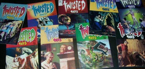 NM 9.4 Lot/9 TWISTED TALES 1 2 3 4 5 6 7 8 9 Corben Wrightson 1982 NEW Store Stk