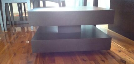 Square chocolate timber bedside table Mount Lewis Bankstown Area Preview