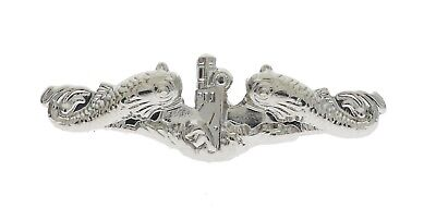 USN Navy Submarine Badge Hat or Lapel Pin Silver Tone Mini 7/8 inch JCH14471D145