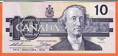 Canada 1989 $10 Thiessen/Crow -BDD- pick #96a Uncirculated