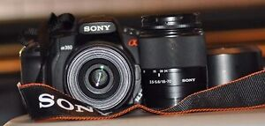 Sony Alpha A350 with 2 Lenses (18-70mm and 55-200mm) & Bag