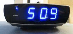 Equity Digital Alarm Clock Blue LED Display Electric Model 75903