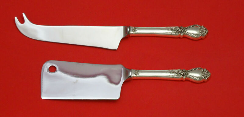 Brocade by International Sterling Silver Cheese Serving Set 2pc HHWS Custom