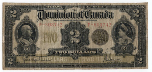 Dominion of Canada 1914 $2 Two Dollars Seal Only Hyndman Saunders P Series VG++