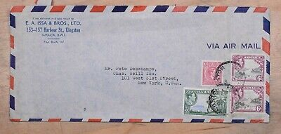Mayfaristamps Jamaica 1940s Kingston to New York Airmail Cover wwp10637