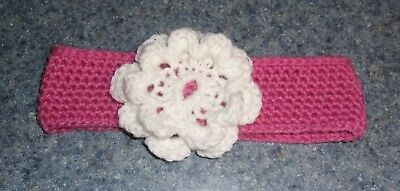 Brand New Crocheted Pink Flower Dog Collar For East Coast  Corgi Rescue Charity