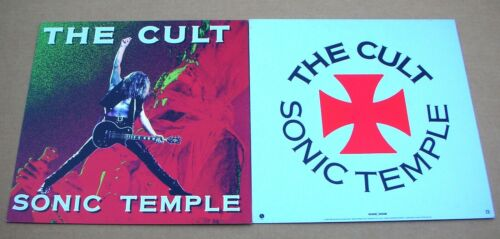 THE CULT Sonic Temple 2 Sided Promo 12x12 Poster Flat 1989 Mint-