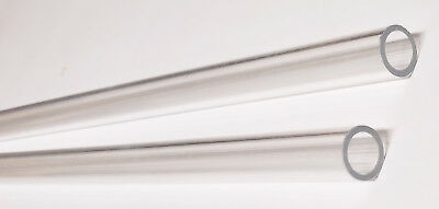 2 Pc 12 Od 38 Id Diameter 12 Long Thin Wall Clear Acrylic Plexiglass Tubes