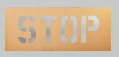 18 inch STOP stencil Cardboard