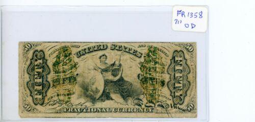 FR 1364 50¢ Fractional Note # 711