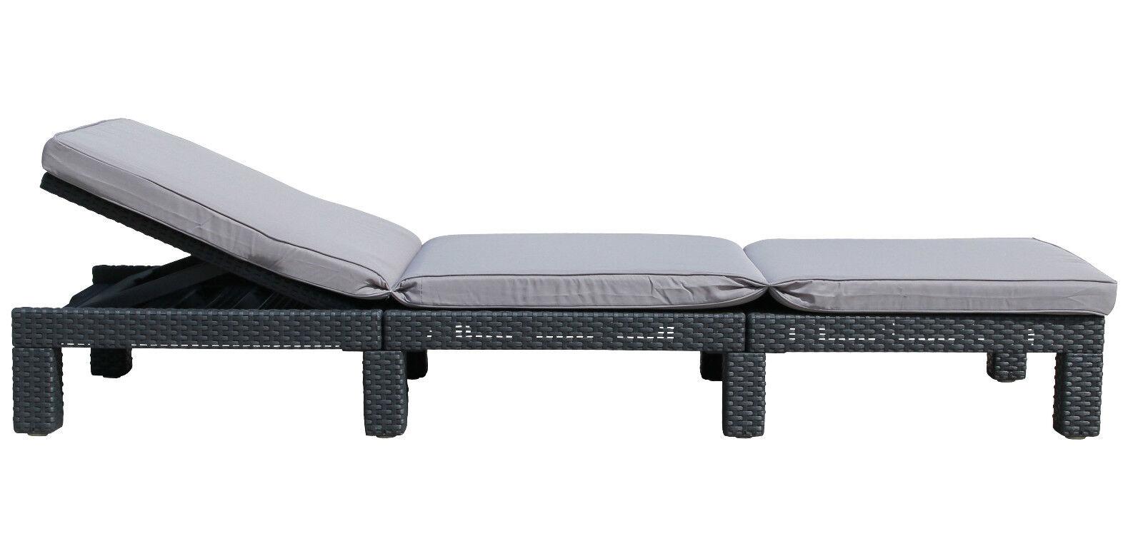 2x allibert daytona sonnenliege gartenliege rattanoptik kunststoff gartenm bel eur 239 95. Black Bedroom Furniture Sets. Home Design Ideas