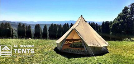 4m or 5m Bell Tent | Canvas Bell Tent | Canvas Tent | Glamping