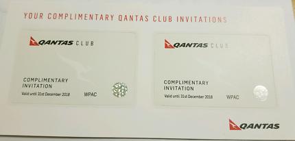 2 x Qantas Club Pass (valid til December 2018)