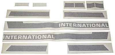 International 1566 Black Stripe Vinyl Decal Set