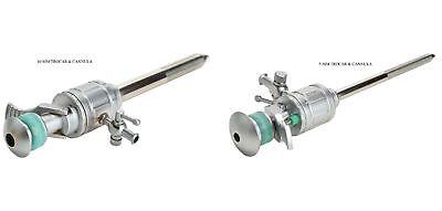 Laparoscopy Trocar Storz Type Valve Metal Body Combo 2 Pcs Port 10 Mm And 5 Mm