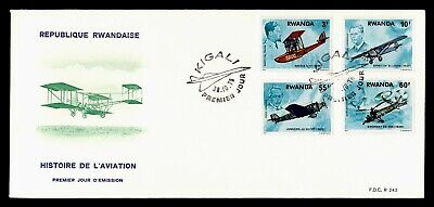DR WHO 1978 RWANDA FDC HISTORY OF AVIATION  C243284