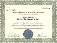 MASTER ELECTRICIAN - ELECTRICAL AND GENERAL CONTRACTING