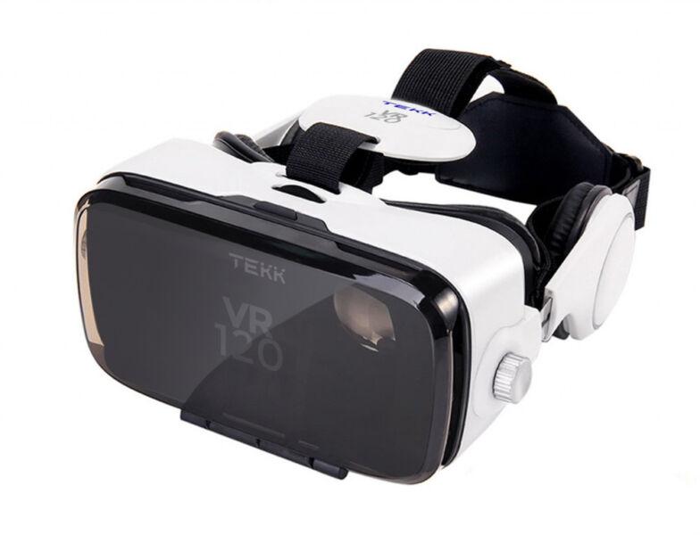 "Tekk VR120 Virtual Reality VR Headset Android Apple head mount 4.7"" - 6.2"" POV"
