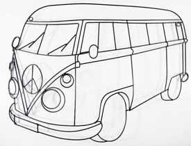 Metal Campervan Wall Art