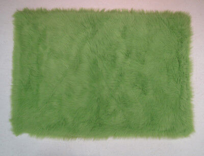 Green Shag/Flokati Comfy Luxe Area Rug Solid FLK-004 ()